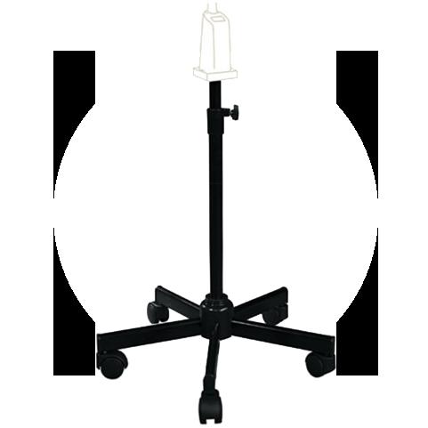 Fixation sur pied roulant téléscopique