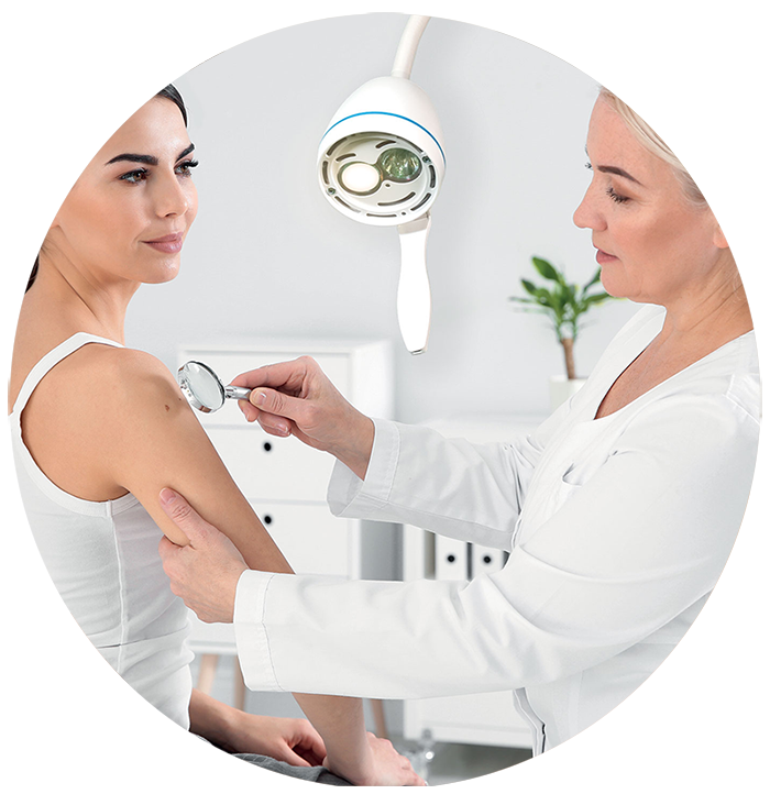 Medical lamp for dermatologists and dermatology