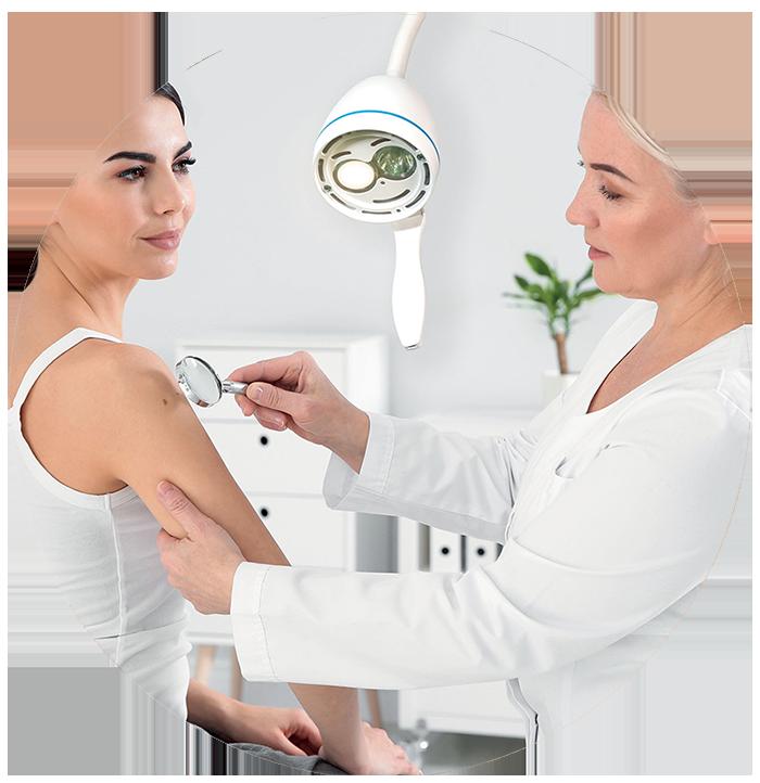 Lampe médicale pour les dermatologues et dermatologie