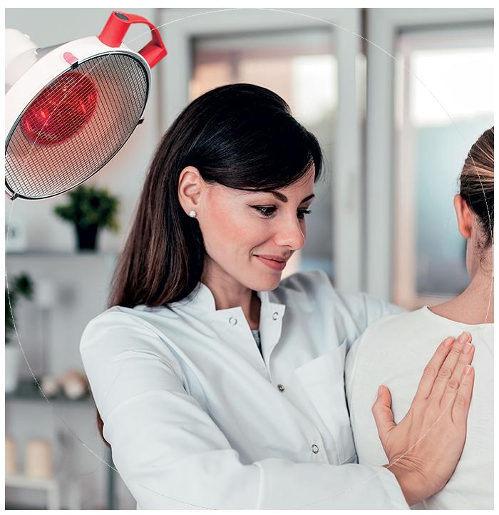 Lampe médicale pour kinésithérapie, kinésithérapeute, ostéopathe