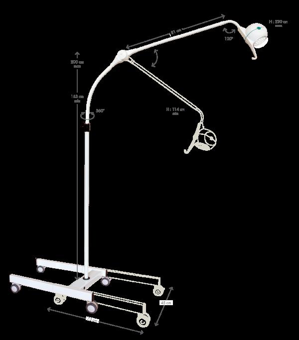 Bellon lampe médicale led pour médecine urgence, anesthésiologie